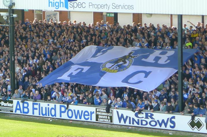 Gasheads surf a flag over the Blackthorn Terrace