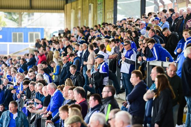 Bristol Rovers fans on The Blackthorn Terrace at The Memorial Stadium